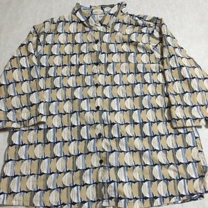 Bon Worth Large Button Shirt Moon Pattern Top